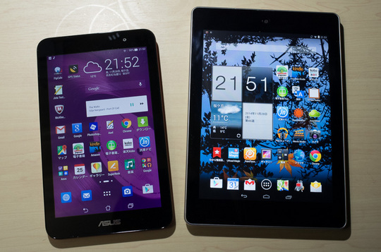 ASUS ME176 + acer A1-810